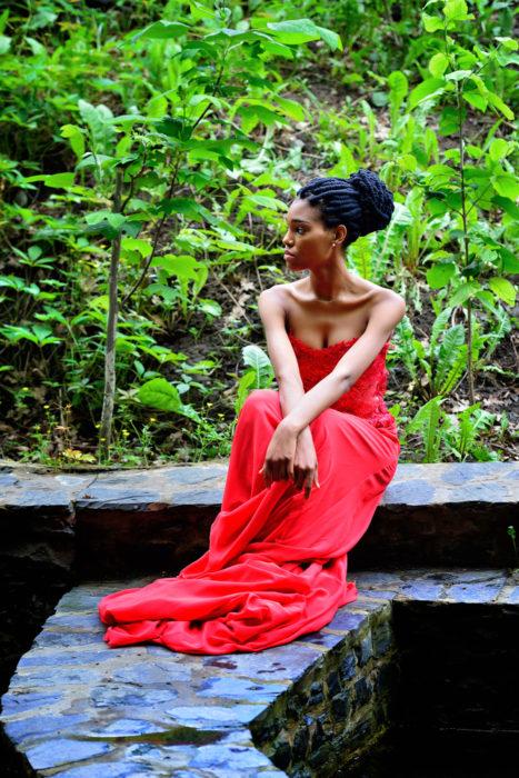 self love woman in nature